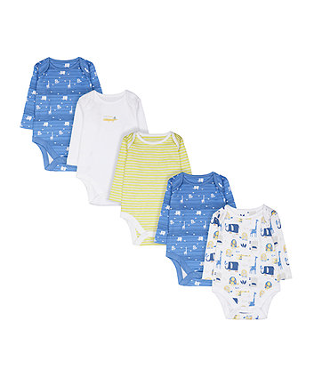 Mothercare Into The Wild Bodysuits - 5 Pack