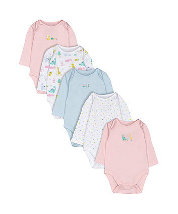 Mothercare Dinosaur Bodysuits - 5 Pack