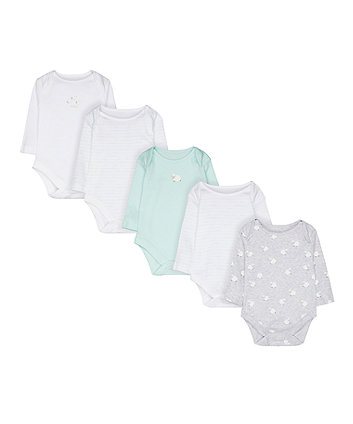 Mothercare Counting Sheep Bodysuits - 5 Pack