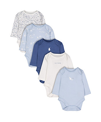 Polar Bear Bodysuits - 5 Pack