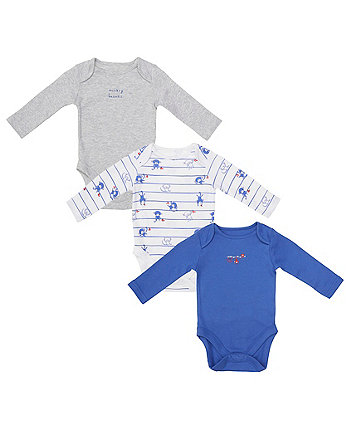 Mothercare Monkey Business Bodysuits - 3 Pack