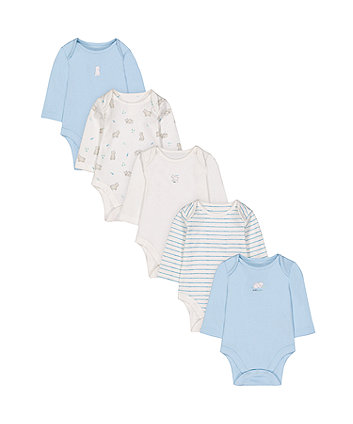 Little Bear Cub Bodysuits - 5 Pack