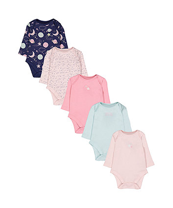 Mothercare Space Bodysuits - 5 Pack