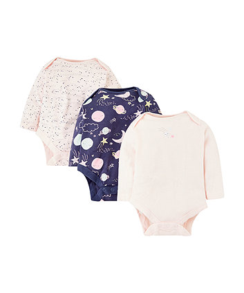 Mothercare Space Bodysuits - 3 Pack