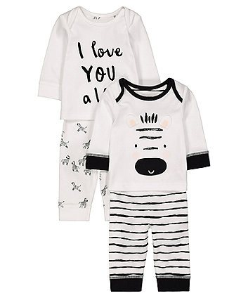 Zebra Pyjamas - 2 Pack