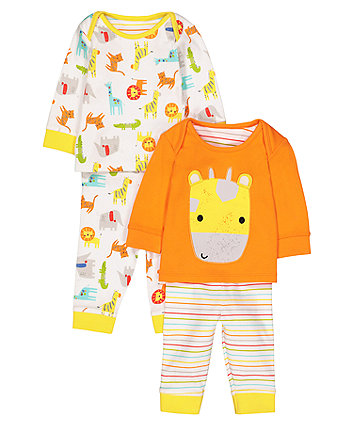 Mothercare Safari Pyjamas - 2 Pack
