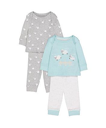 Mothercare Counting Sheep Pyjamas - 2 Pack