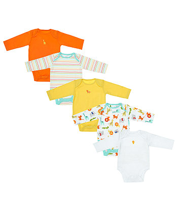 Bright Safari Bodysuits - 5 Pack