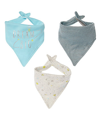 Mothercare Space Bibs - 3 Pack
