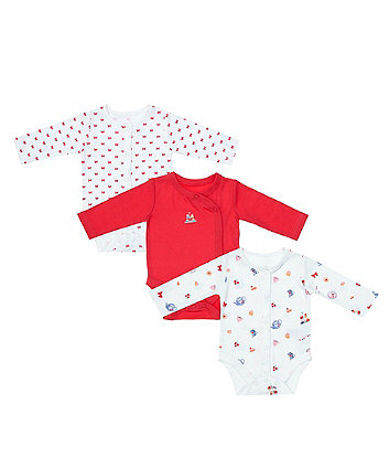Mothercare Tea Party Bodysuits - 3 Pack