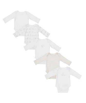 My First Elephant And Giraffe Bodysuits - 5 Pack