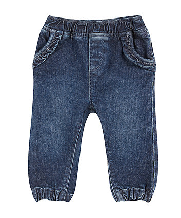 Mothercare Midwash Ruffle Jeans