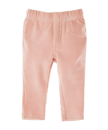 Mothercare Pink Ribbed Velour Jeggings