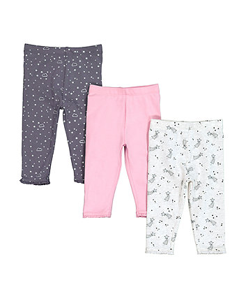 Mothercare Shooting Star Leggings - 3 Pack