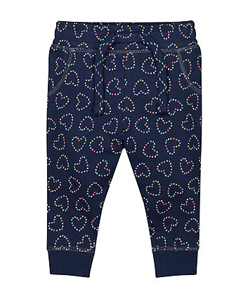 Mothercare Navy Heart Joggers