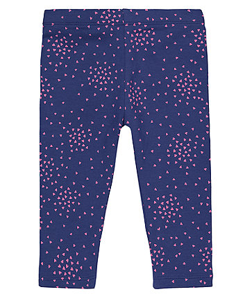 Mothercare Navy Heart Leggings