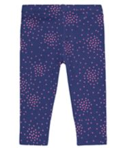 Navy Heart Leggings