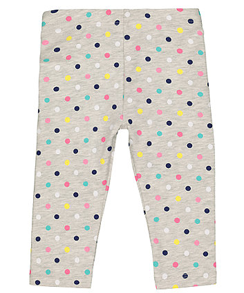 Mothercare Grey Multicoloured Heart Leggings