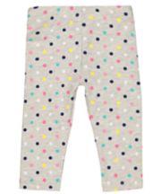 Mothercare Grey Multicoloured Heart Leggings
