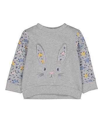 Mothercare Grey Bunny Sweat Top