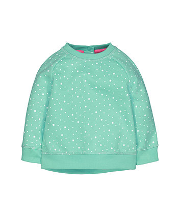 Green Spot Sweat Top