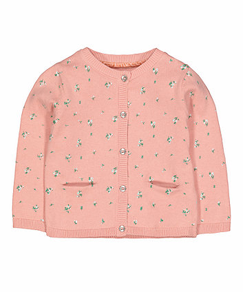 Mothercare Pink Floral Cardigan