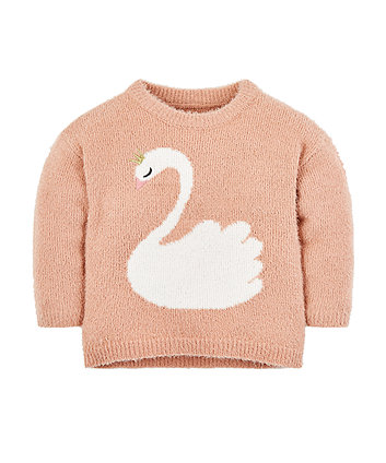 Swan Knitted Jumper