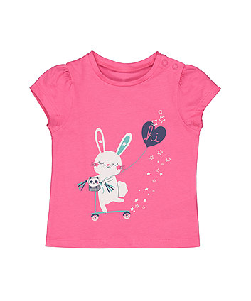 Mothercare Pink Bunny T-Shirt