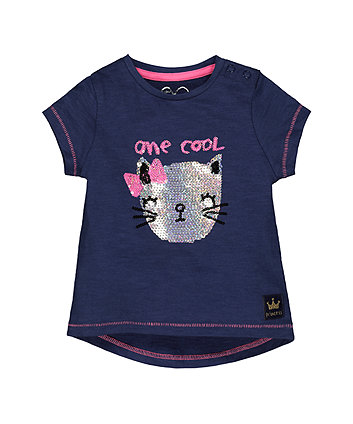 Mothercare Navy Cool Cat T-Shirt