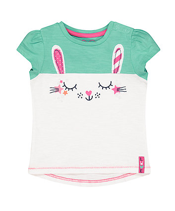 Mothercare Green Bunny T-Shirt