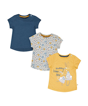 Mummy Loves Me T-Shirts - 3 Pack