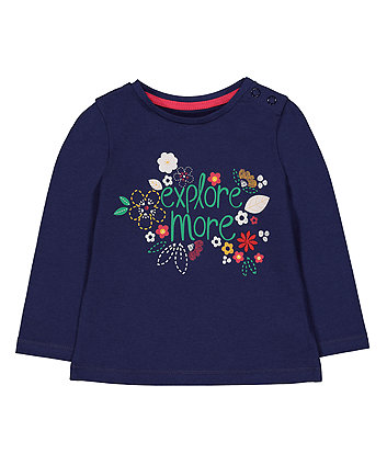 Mothercare Navy Explore More T-Shirt
