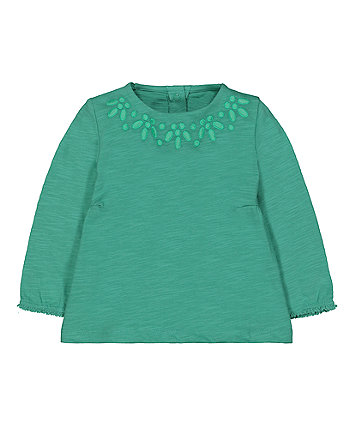 Mothercare Green Embroidered Tunic