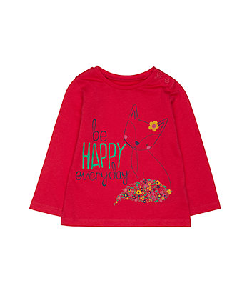 Mothercare Be Happy Fox T-Shirt