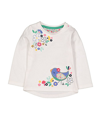 White Bird Flower T-Shirt