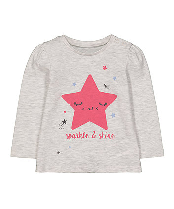 Mothercare Star Sparkle And Shine T-Shirt