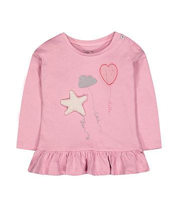 Pink Frill Balloon T-Shirt