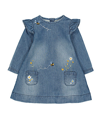 Mothercare Lovely Bee Denim Dress