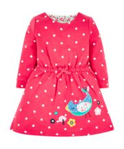 Red Spot Bird Sweat Dress