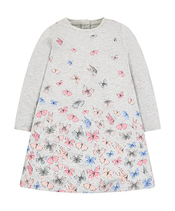 Mothercare Grey Butterfly Jersey Dress