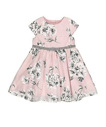 Mothercare Grey Floral Prom Dress