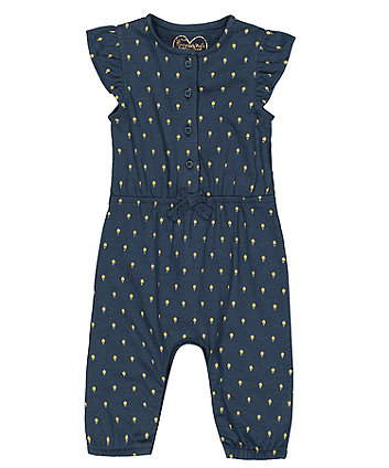Mothercare Navy Floral Jumpsuit
