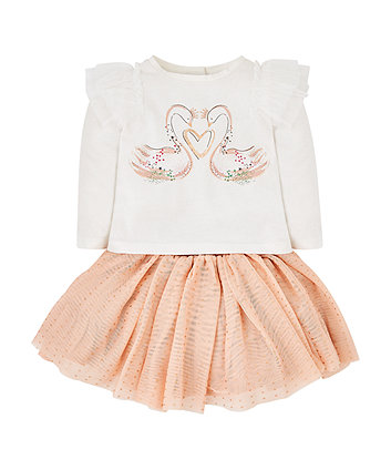 Swan Top And Tutu Set