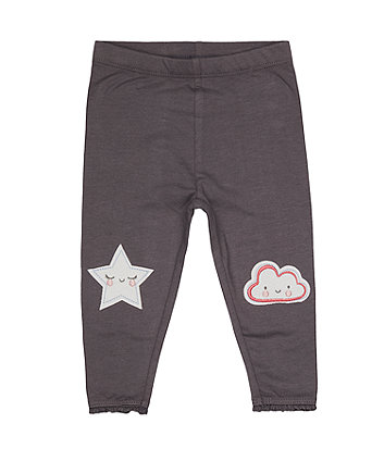 Mothercare Grey Star And Cloud Leggings