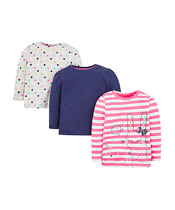 Mothercare Bunny T-Shirts - 3 Pack
