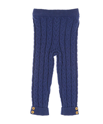 Mothercare Navy Cable Knit Leggings