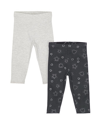 Grey Sparkle Leggings - 2 Pack