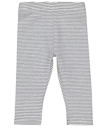 Mothercare Navy And White Stripe Leggings