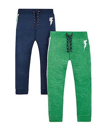 Mothercare Green And Navy Lightning Joggers