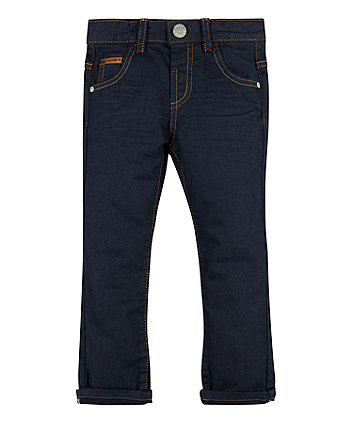 Mothercare Coated Dark Wash Jeans